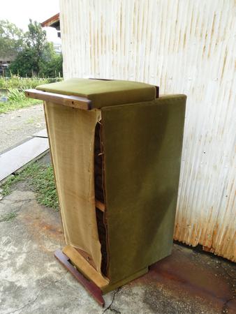 coarse: Of coarse refuse sofa Stock Photo