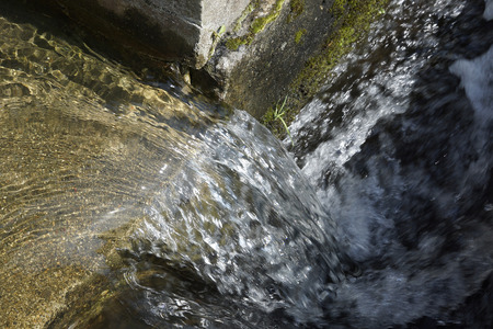 water flow: Water flow of canal