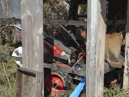 farm equipment: Farm equipment hut