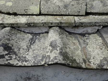 roof tiles: Dilapidated roof tiles