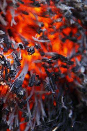 ゴミを燃やす 写真素材