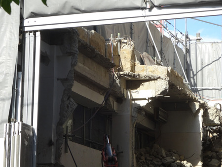 demolition: Demolition of the building Stock Photo