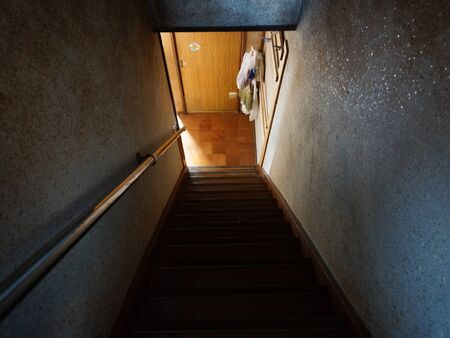dirty room: Steep stairs of the dirty room