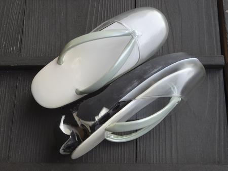 sandals: Broken sandals