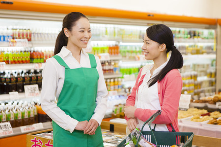 shopping buddies: Women of the female clerks and shoppers