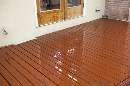 wood deck: Wood deck Stock Photo