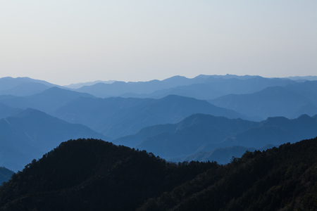 grandeur: Mountains seen from Tamaki shrine