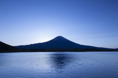quietude: The dawn of Mount Fuji from Lake Tanuki