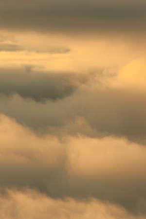 breaking dawn: Mar de nubes Foto de archivo