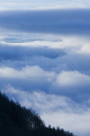 amanecer: Mar de nubes Foto de archivo