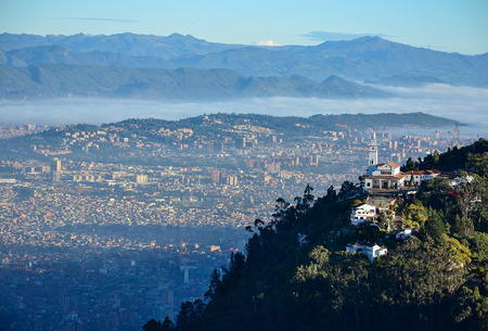 Aerial view of the city of Bogota Stock Photo