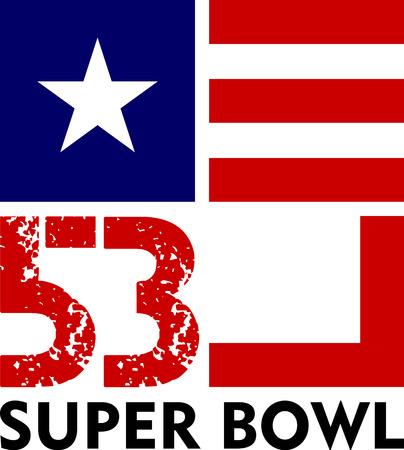Super Bowl 53 art for Poster, t-shirt or tailgate sticker. Illustration