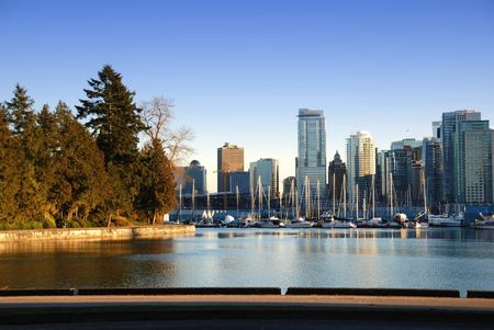 City of downtown Vancouver
