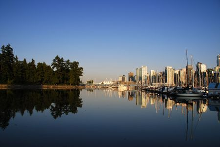View of downtown Vancouver, English Bay photo