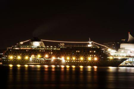 Night scene of World Cruise in Stanley park photo
