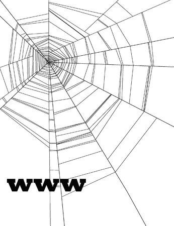 site: www on webspider background