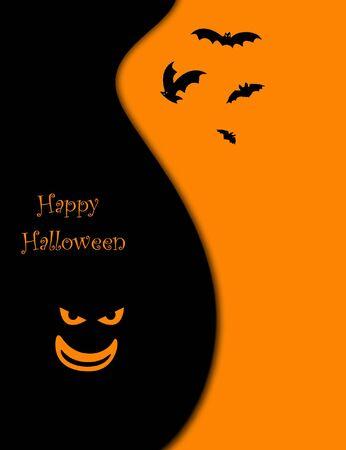 clowngesicht: Halloween mit Flederm�use und Clown-Gesicht