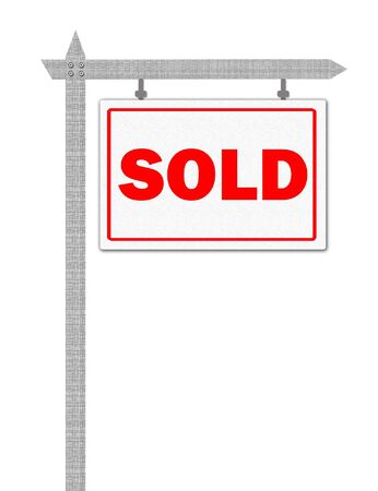 Sold sign Stock Photo - 5520277