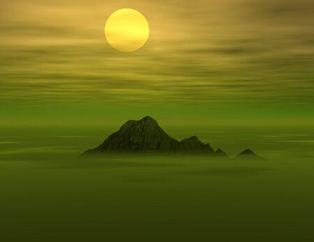 Beautiful sunset view  photo