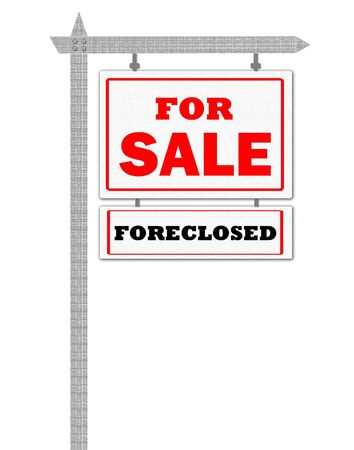 foreclosed: Real Estate For Sale Sign, foreclosed