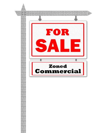 zoned: Real Estate For Sale Sign, zoned commercial