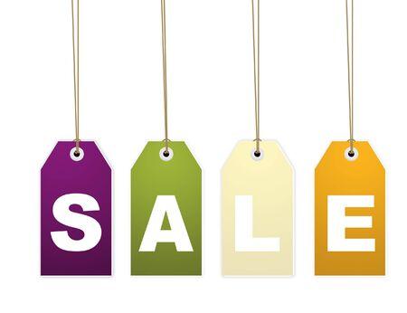 sales representative: Hanging sale letter tags
