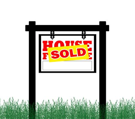 House for sale sold sign photo