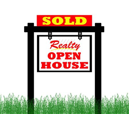 Realty open house sold sign photo