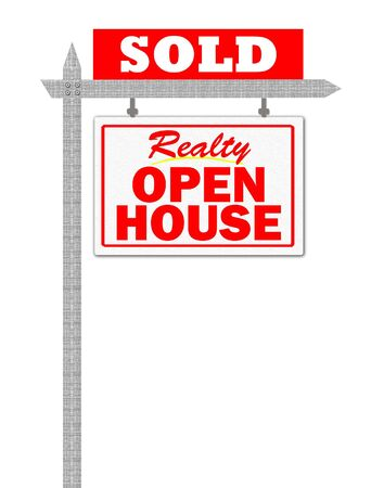 Realty open house sold sign Stock Photo - 5520351