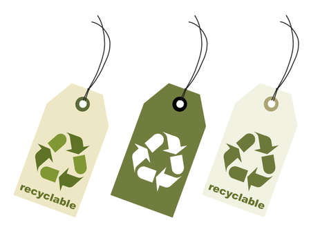 reciclable: Etiqueta de cantar reciclables