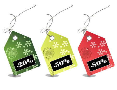 Retail sale price tags for every shopping season Stock Photo - 5545434