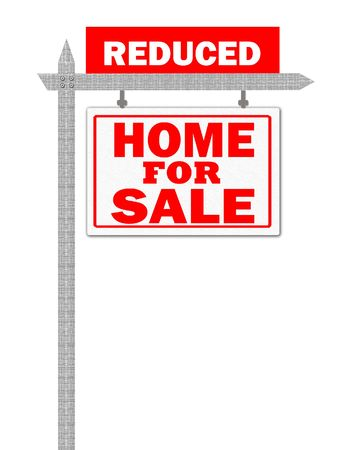 homely: Real Estate home for sale sign, price reduced