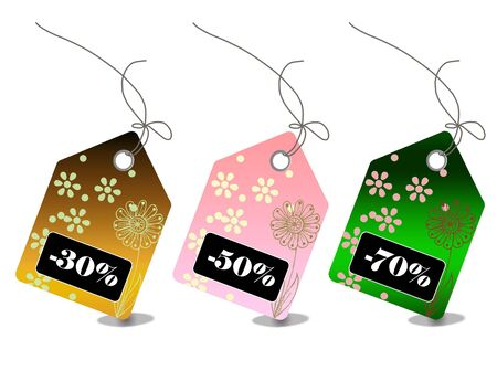 Retail sale price tags for every shopping season Stock Photo - 5568227