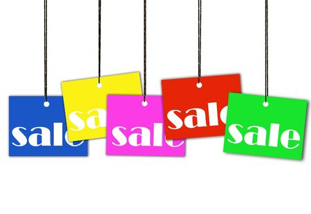 Hanging sale tags  Stock Photo - 5568230