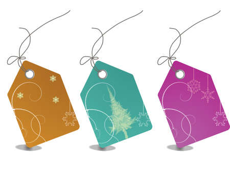 Colorful sales tags with clipping path Stock Photo - 5568234