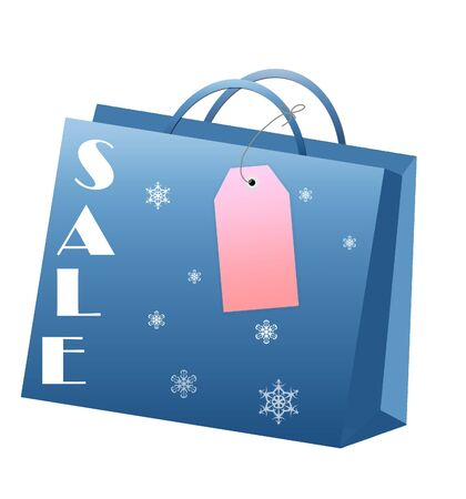 Christmas shopping bag with tag for every shopping season Stock Photo - 5568245