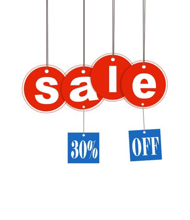 Hanging sale letter and discount tag Stock Photo - 5587544