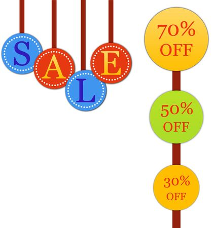 Hanging sale letter with discount sign  Stock Photo - 5598916