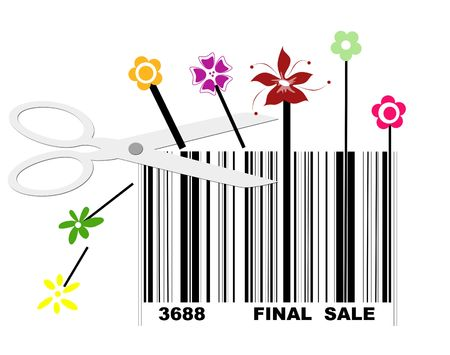 Retail has huge final sale with bar code Stock Photo - 5598910