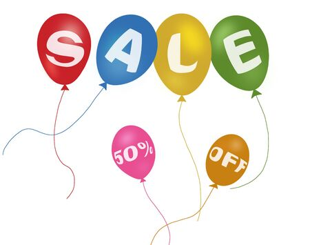 Colorful balloons and discount sale Stock Photo - 5598921