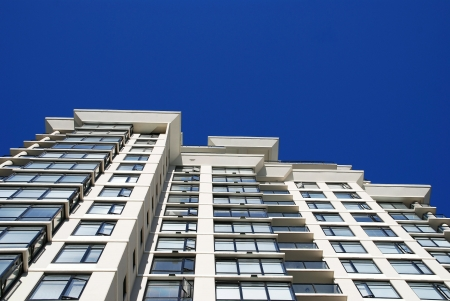 high rise building: Detail of modern apartment building in Vancouver, Canada