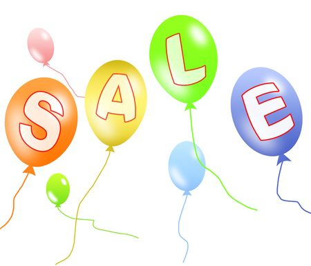Colorful balloons sale Stock Photo - 5612075
