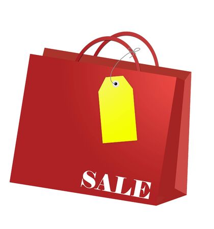 Shopping bag with tag for every shopping season Stock Photo - 5623636