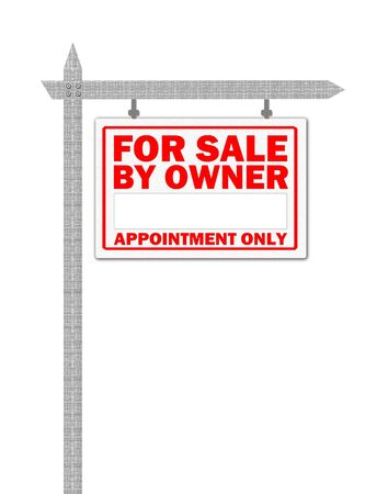 appointment: Real Estate home for sale sign, appointment