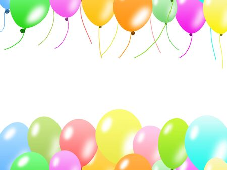Colorful balloons border photo