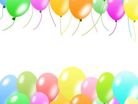 Colorful balloons border Banco de Imagens