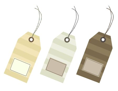 Empty sales tags with clipping path Stock Photo - 5623646