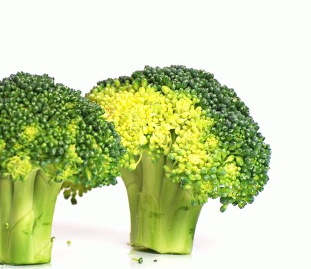 Isolated broccoli on white background  Banco de Imagens