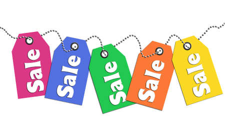 Colorful sale tags photo