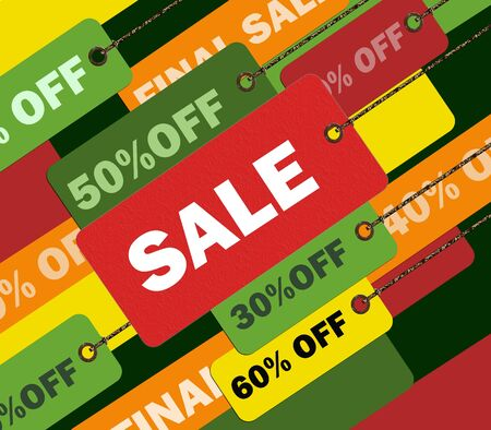 Colorful shopping concept illustration image you can use it for any sale time or seasons illustration